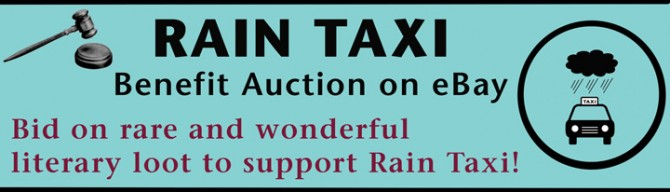 Rain Taxi's Annual Benefit Auction Starts Today!